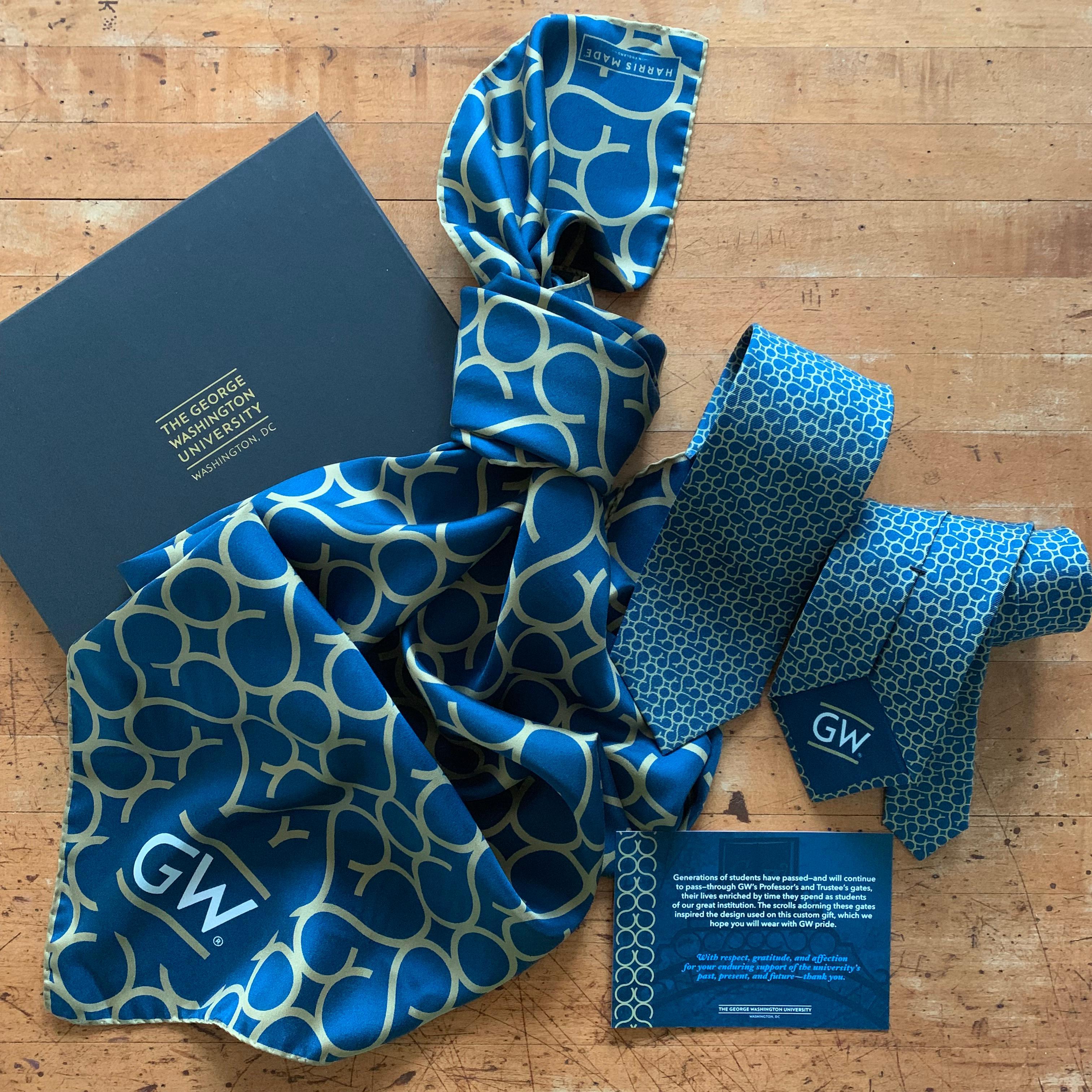 customer silk scarf for george washington university