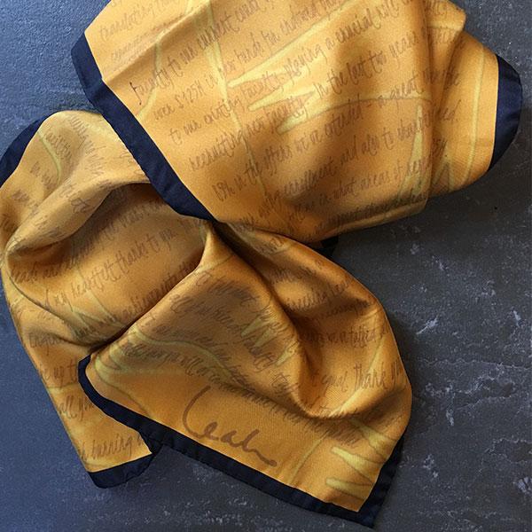 purdue silk scarf